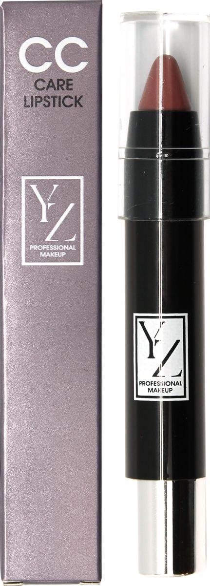 Yllozure помада-карандаш СС-уход, тон 421642Новая концепция СС (Контроль Цвета) и защита губ от неблагоприятного воздействия окружающей среды реализована в лимитированной коллекции удобных карандашей для губ YZ СС-care. Формула помады основана на современных высокоочищенных восках и инертных полимерах, которые создают на губах эластичное защитное покрытие, предотвращающее обветривание, шелушение и раздражение. Она смягчает, разглаживает кожу губ и при этом тонирует и придает легкий влажный блеск. Помада не содержит отдушек и синтетических красителей, способных вызывать раздражения. В ее составе используются гипоаллергенные минеральные пигменты, которые придают губам натуральные полупрозрачные оттенки, не сушат губы и не «въедаются» в кожу.Какая губная помада лучше. Статья OZON Гид