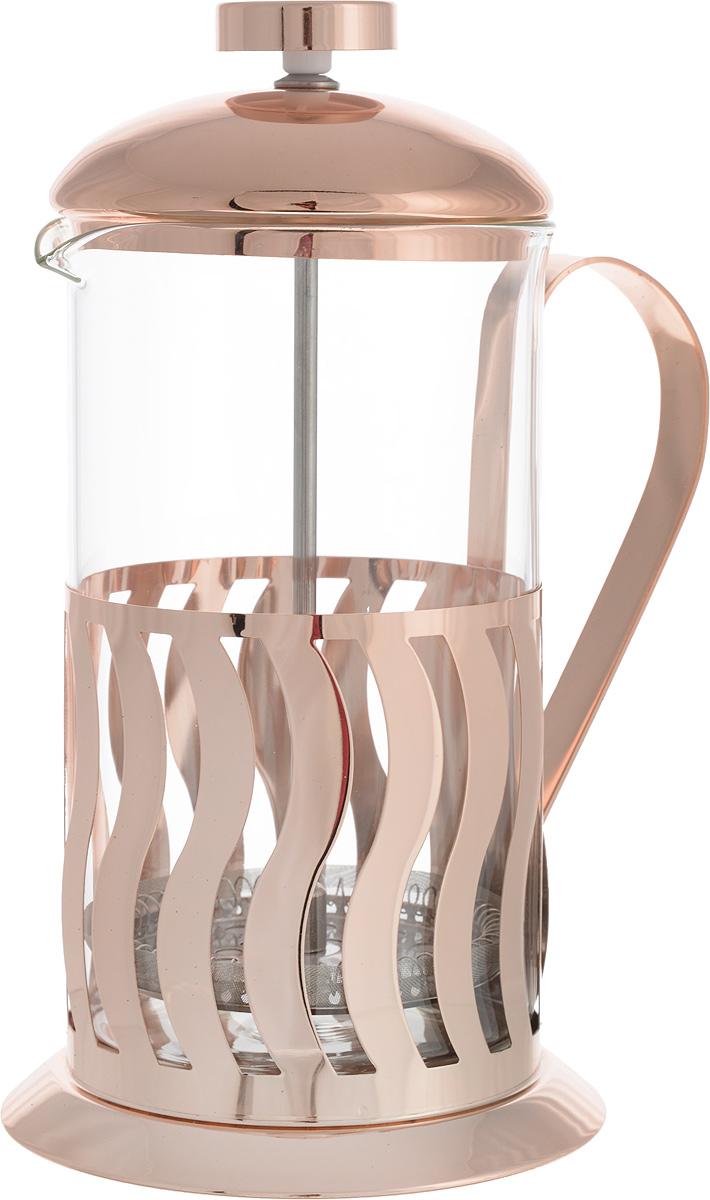 Френч-пресс Regent Inox Franco, 600 мл93-FR-33-01-600Френч-пресс Regent Inox Franco изготовлен их экологически чистых материалов: жаропрочного стекла и нержавеющей стали с зеркальной полировкой. Корпус в нижней части оформлен перфорированным рисунком в виде вертикальных полосок. Френч-пресс оснащен удобной ручкой. Фильтр-поршень из нержавеющей стали обеспечивает равномерную циркуляцию воды и насыщенность напитка. С его помощью также можно регулировать степень крепости чая. Сбоку стеклянной колбы имеется носик для удобного слива жидкости.Френч-пресс Regent Inox позволит быстро приготовить свежий и ароматный кофе или чай. На упаковке - инструкция в картинках, которая поможет вам правильно заварить чай или кофе. Можно мыть в посудомоечной машине. Высота (с учетом крышки): 20 см. Диаметр колбы по верхнему краю: 8,5 см. Объем: 600 мл.