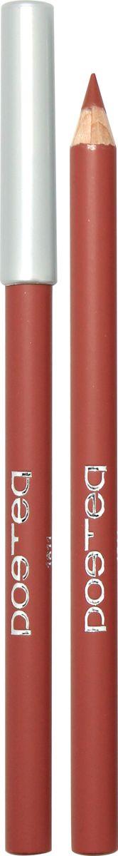 Poetea контурный карандаш для губ , тон 111811РУхаживающая формула мягких карандашей для губ POETEQ основана на натуральных восках и масле ЖОЖОБА холодного отжима, не содержит минеральных масел и парафина. Масло жожоба питает кожу губ и регулирует водно-липидный баланс, защищая от сухости и предотвращая шелушение. Формула контурного карандаша обогащена витамином Е природного происхождения, который защищает кожу от преждевременного старения, питательным касторовым маслом и экстрактом листьев алое, снимающим раздражения. Карандаш легко скользит, оставляя мягкий кремовый след, который легко растушевывается сразу после нанесения, создавая комфортную основу для нанесения блесков или помад. Через несколько секунд полимерные компоненты застывают, образуя стойкий контур, который легко удаляется жидкостью для снятия макияжа с глаз и губ.