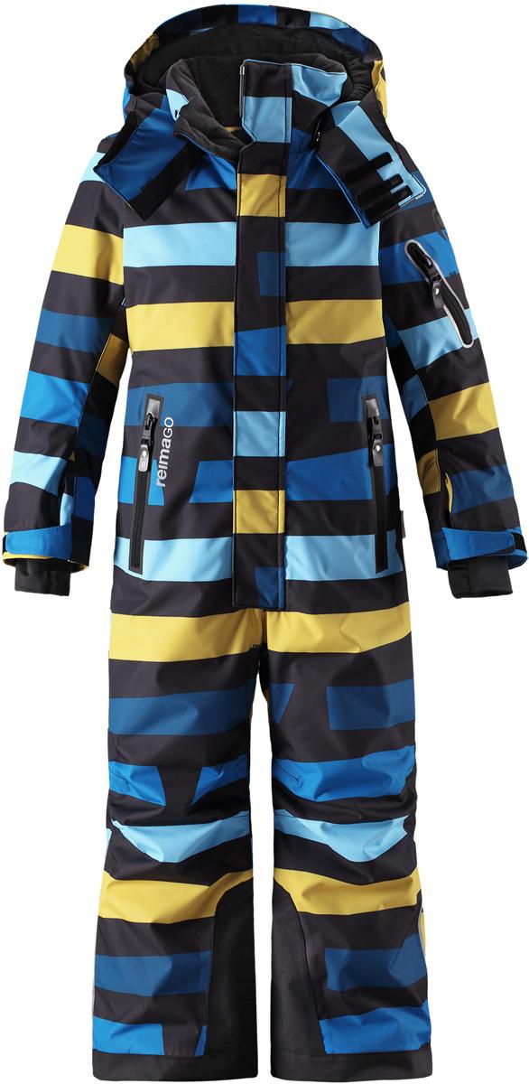 Комбинезон детский Reima Reimatec Reach, цвет: темно-синий, желтый. 5202116498. Размер 104