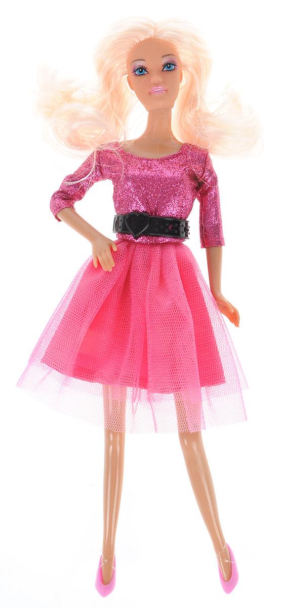 Defa Toys Кукла Lucy Fashion dress цвет платья малиновый кукла defa lucy любимый малыш pink 5063pk