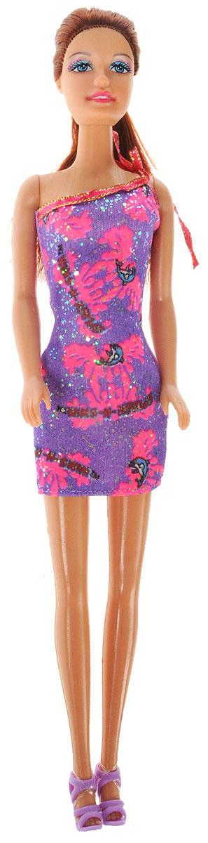 Defa Toys Кукла Lucy цвет платья фиолетовый розовый кукла defa lucy 6023