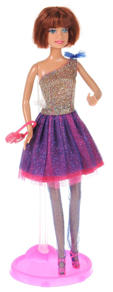 Defa Toys Кукла Lucy Model Show цвет платья фиолетовый кукла defa lucy 6023