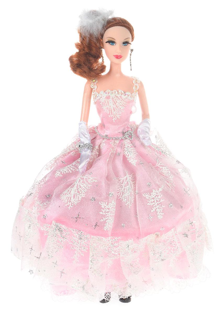ABtoys Кукла Весенний вальс цвет бального платья светло-розовый abtoys кукла зимняя фея сноусторм