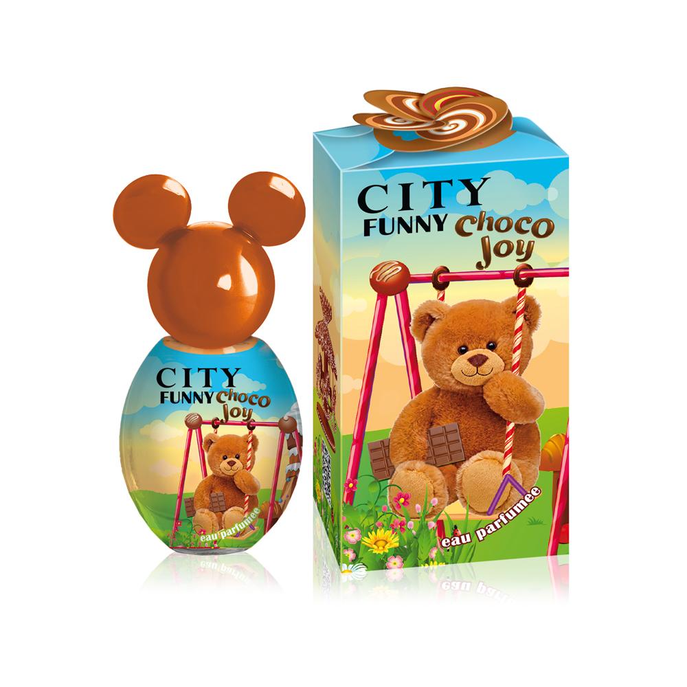 City Funny Choco Joy, душистая вода, 30 мл2001012287Вместе с мягким шоколадным ароматом CITY FUNNY Choco Joy сбывается добрая детская мечта – возможность побывать в настоящей стране сладостей! Теплые нотки какао с тёплым молоком и ириски подарят удивительное настроение и желание ощущать их на себе снова и снова. А завершающий сахарный аккорд обязательно вызовет улыбку!Окунись в сладкие объятия!