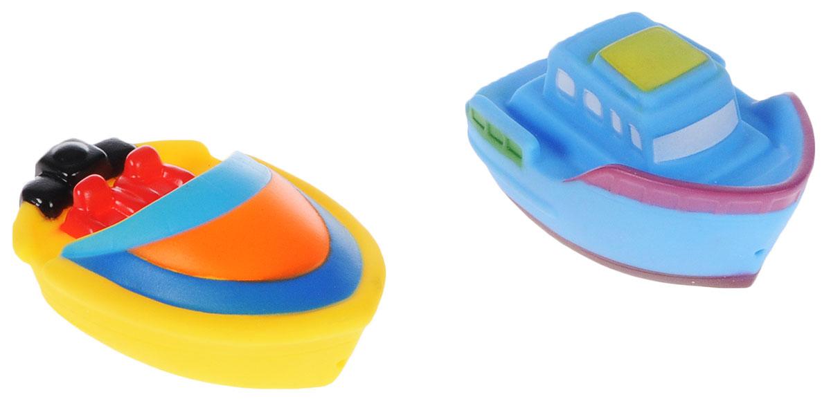 ABtoys Игрушка для ванной Катер-брызгалка цвет желтый голубой 2 шт игрушка abtoys веселое купание катер брызгалка pt 00518