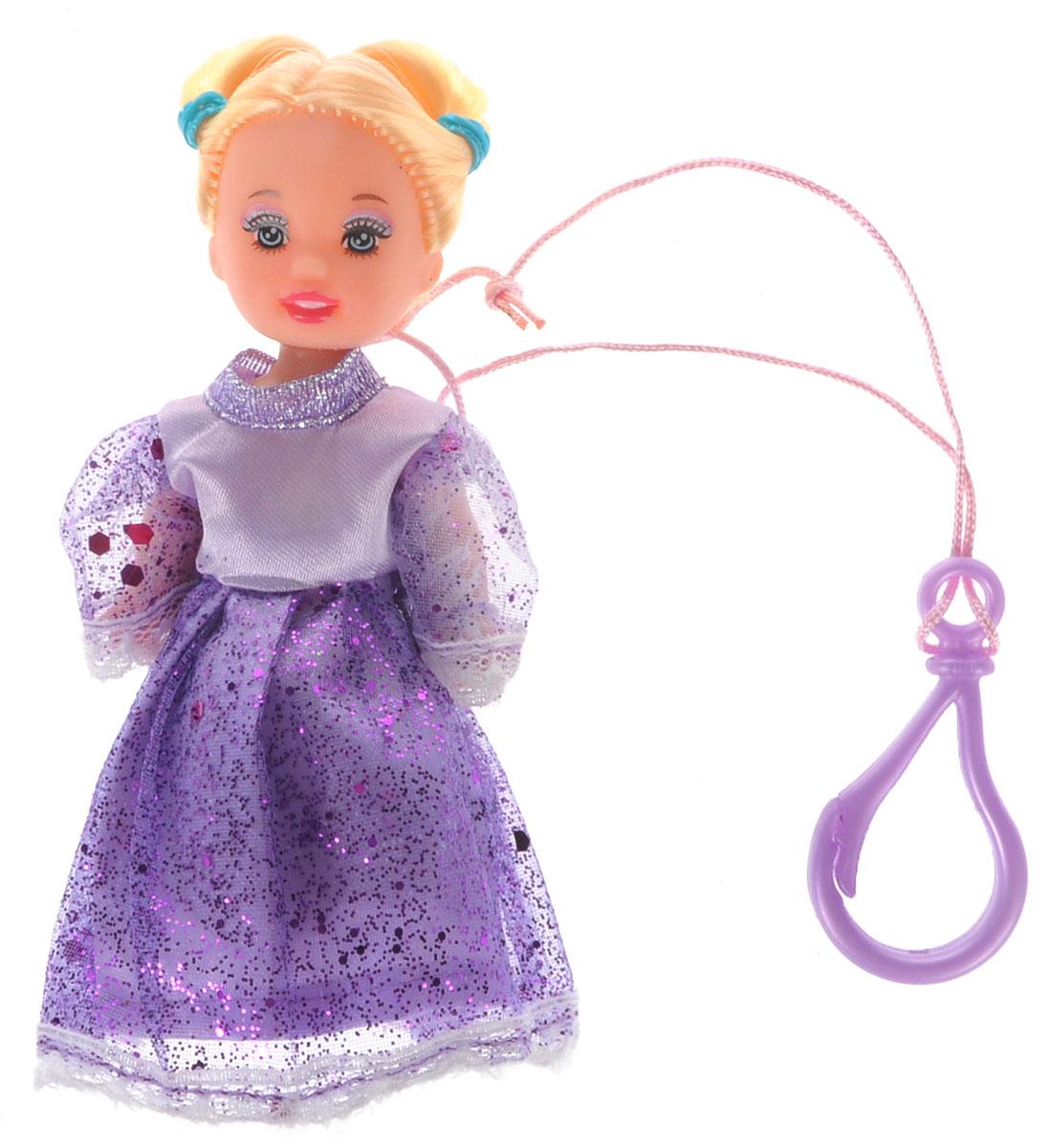 Defa Toys Мини-кукла Beily цвет платья сиреневый