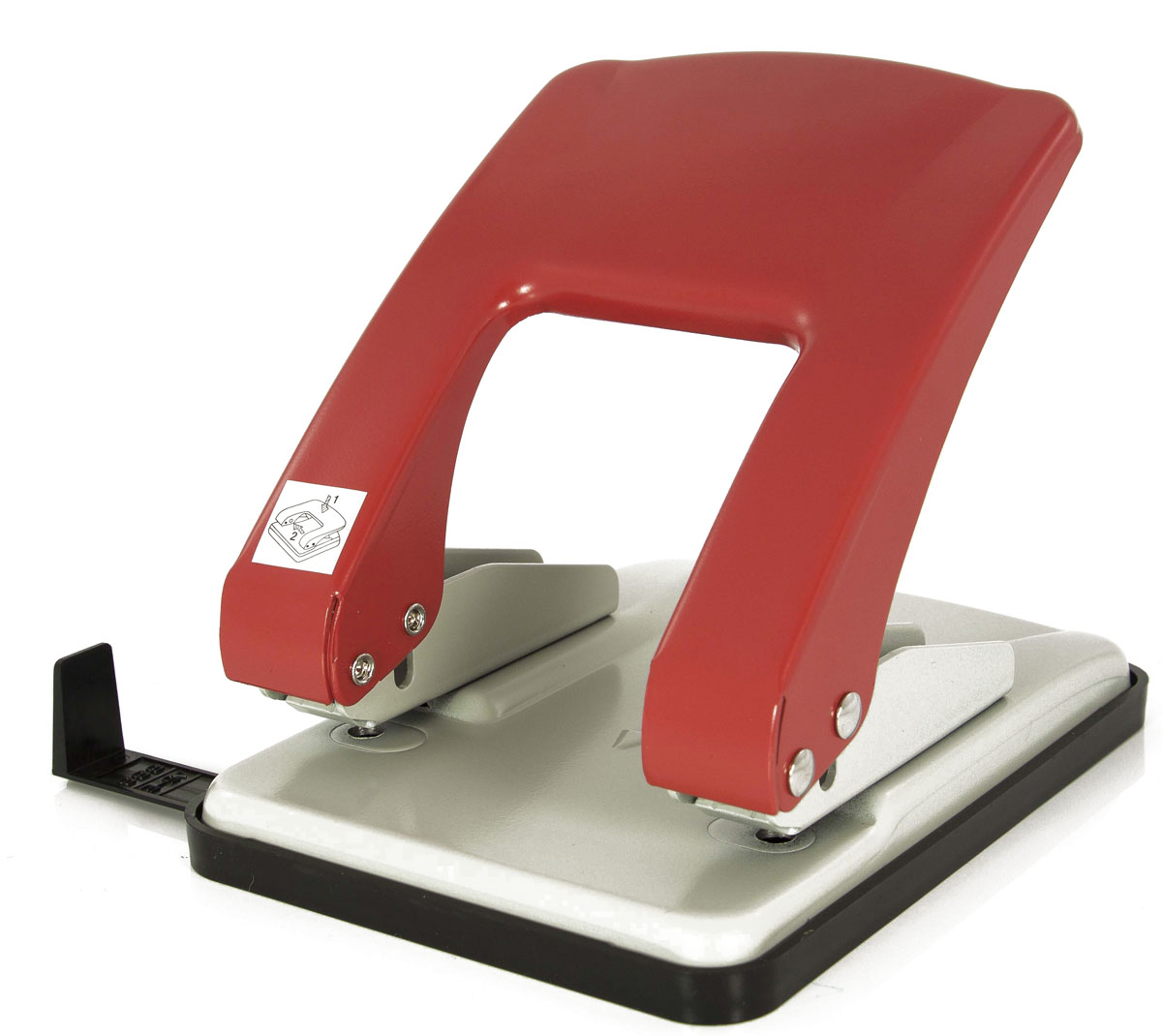 KW-Тrio Дырокол Stylish цвет серый красный976gr/redОфисный дырокол KW-Тrio Stylish изготовлен из металла и пластика.Дырокол снабжен пластиковой выдвижной линейкой и поддоном для конфетти.
