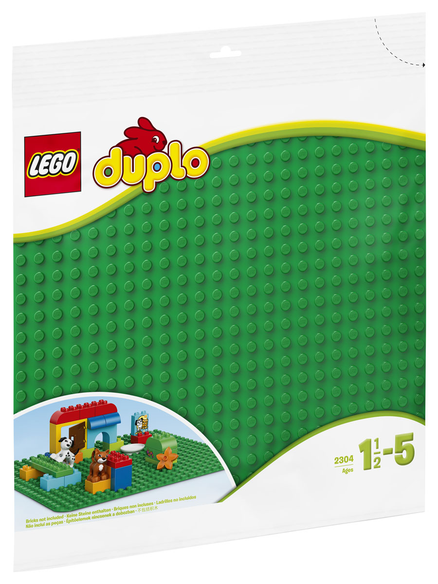LEGO DUPLO Строительная пластина 24х24 цвет зеленый 2304 конструктор lego duplo строительная пластина 38х38 1 элемент 2304