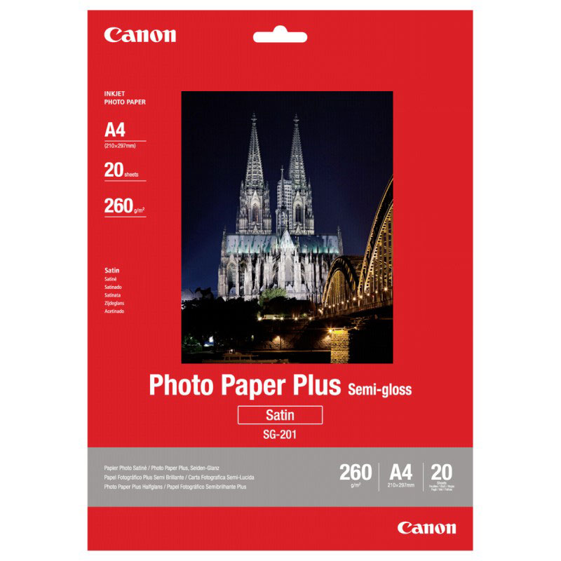 Canon SG-201 260/A4/20л Photo Paper Plus Semi-Gloss (1686B021)