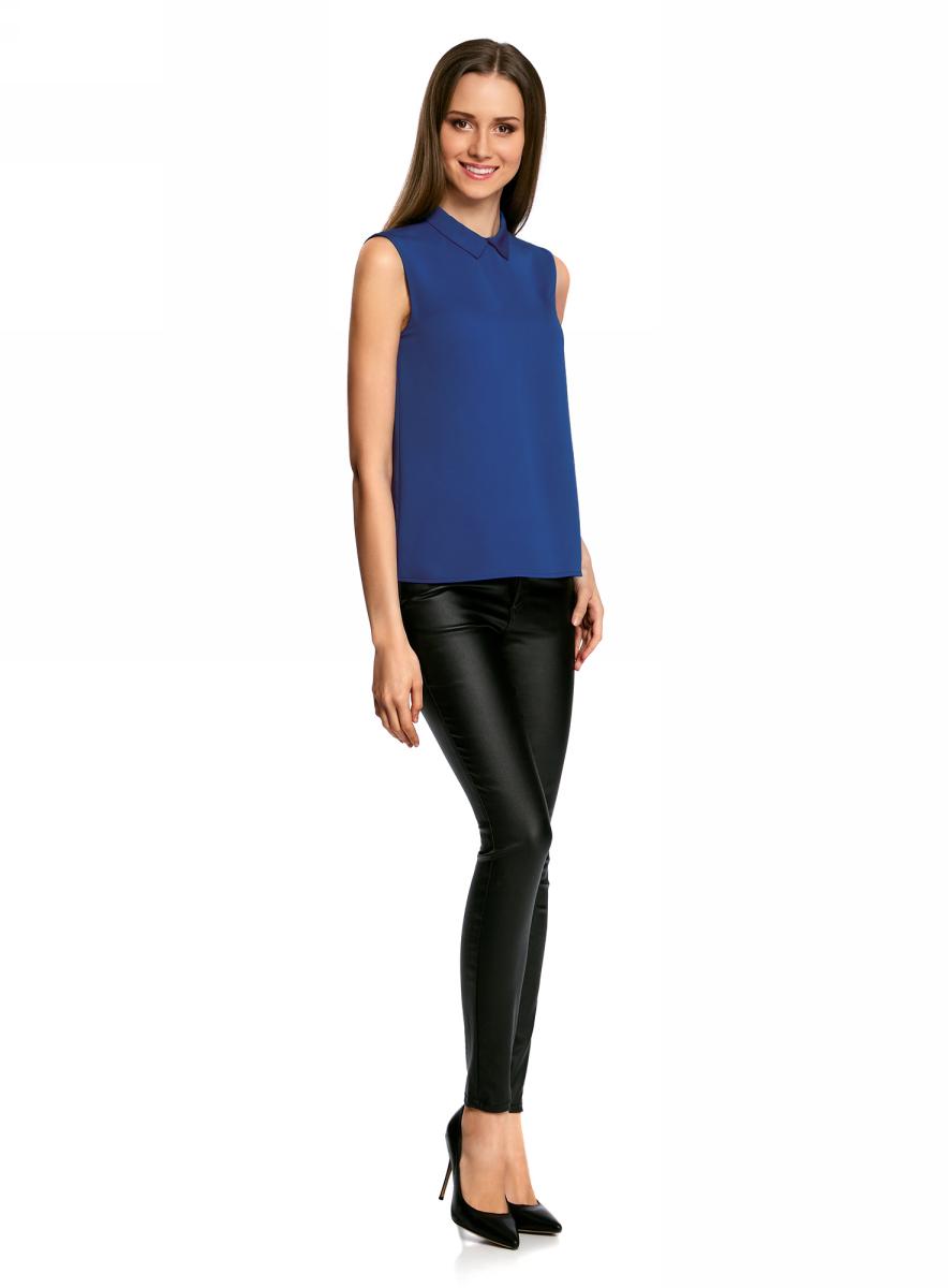 Купить Блузка женская oodji Ultra, цвет: синий. 11411084B/43414/7501N. Размер 36-170 (42-170)