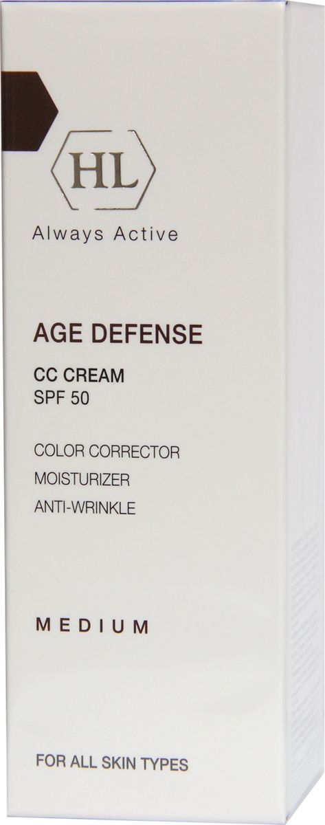 Holy Land Корректирующий крем Age Defense CC Cream Medium (SPF50), 50 мл holy land alpha complex multifruit system day defense cream spf 15 дневной защитный крем 50 мл