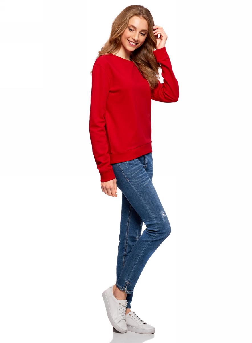 все цены на  Джемпер женский oodji Ultra, цвет: красный. 14808015/46151/4500N. Размер XL (50)  онлайн