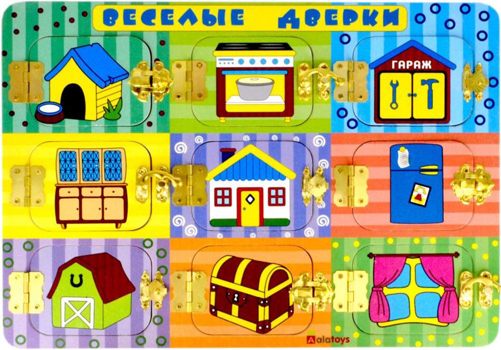 Alatoys Бизиборд Веселые дверки - Игрушки для малышей