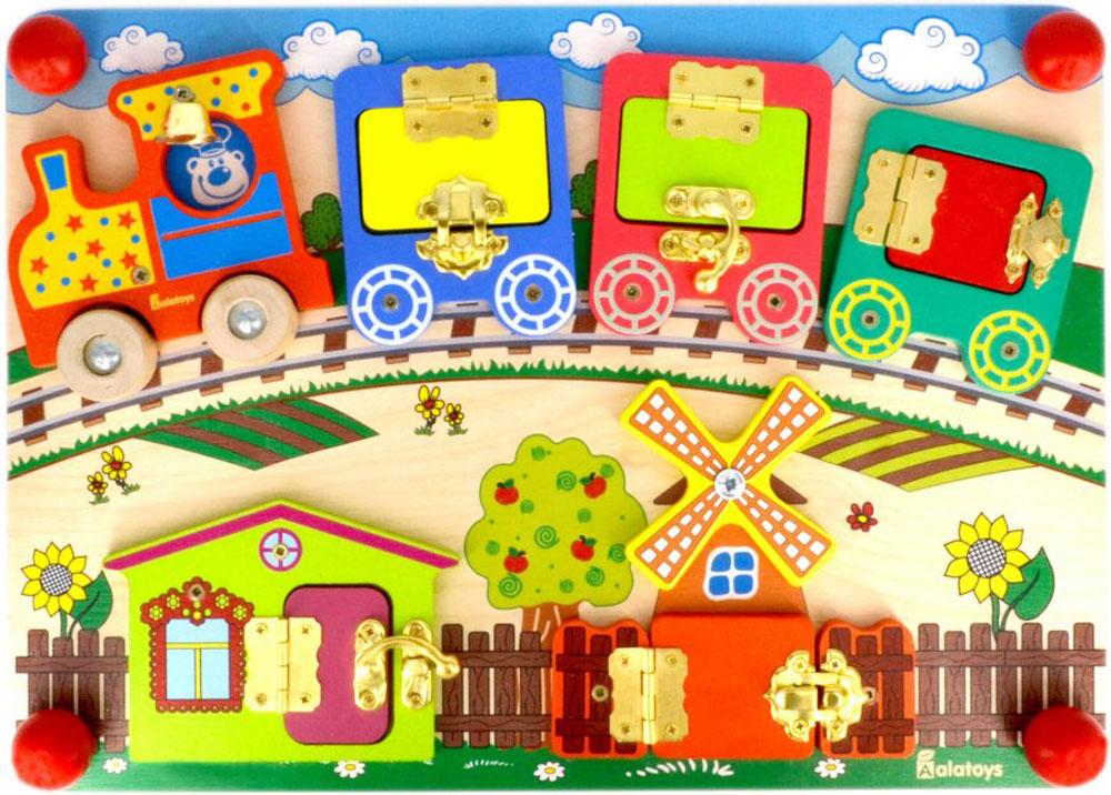 Alatoys Бизиборд Вагончики - Игрушки для малышей