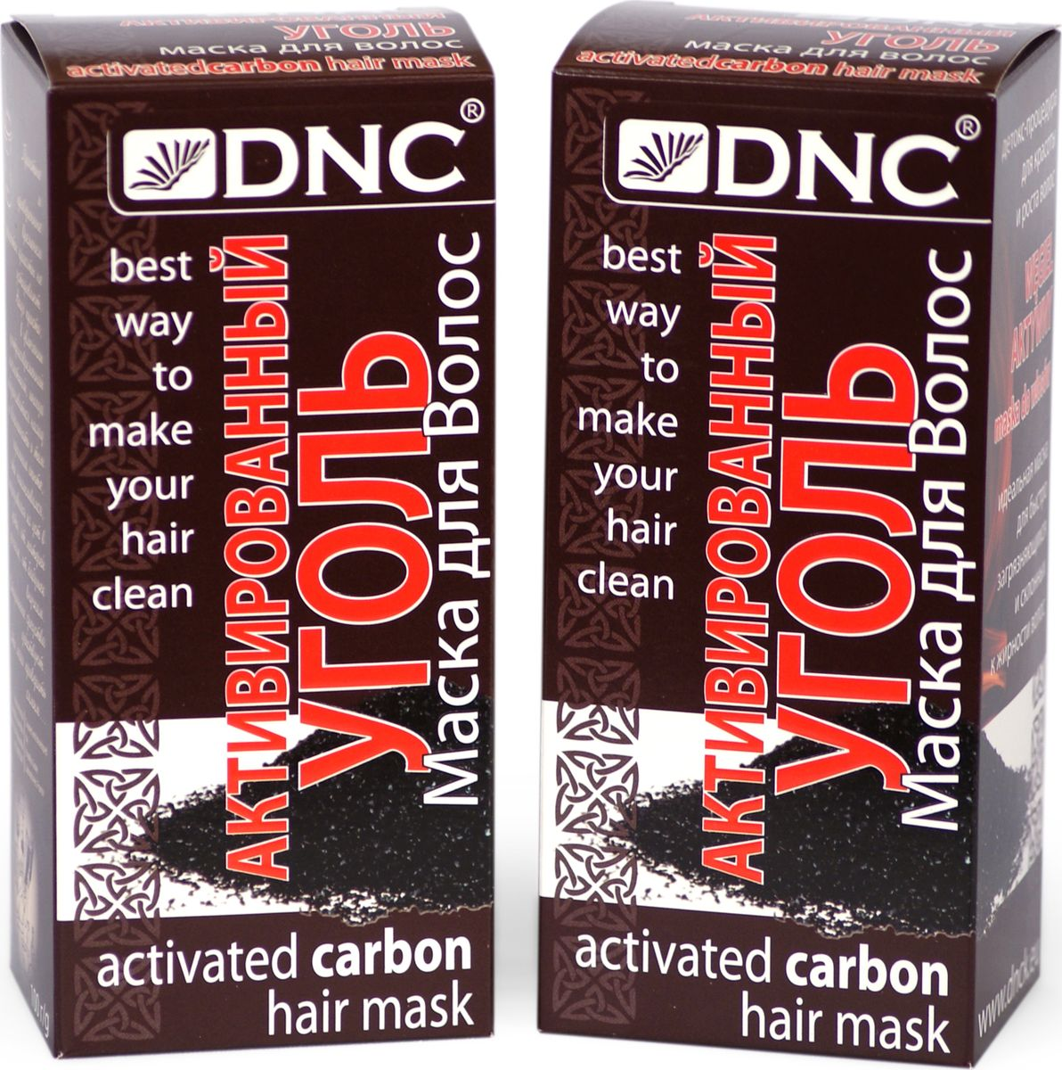 DNC Набор Маска для волос Уголь для волос, 100 г, 2 шт dnc набор филлер для волос 3 15 мл и шелк для волос 4 10 мл