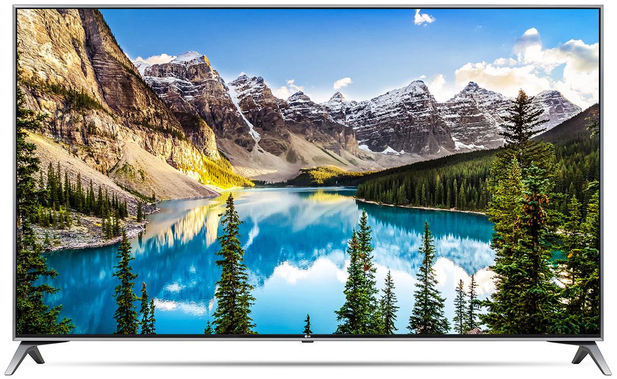 LG 49UJ740V телевизор90000003920LG 49UJ740V - UHD телевизор с высококачественной IPS панелью. С технологией IPS 4K цвета выглядят ярче и контрастнее под каким бы углом вы ни взглянули на экран.Технология Active HDR поддерживает классические форматы HDR10 и HLG и премиальный Dolby Vision. Active HDR — собственная технология LG. Она оптимизирует видеопоток под каждый конкретный эпизод, что делает картинку наиболее яркой и реалистичной.Уникальный режим HDR Effect увеличивает контрастность контента, снятого в стандартном динамическом диапазоне, и тем самым создает эффект HDR-качества.Технологии Ultra Luminance и Local Dimming регулируют подсветку и определяют контрастность для отдельных блоков изображения, таким образом добиваясь повышенной яркости и улучшенной детализации.Используя алгоритм обработки видео 4K Upscaler, можно масштабировать изображение до разрешения 4К.Окунитесь в глубины звука благодаря новейшей технологии симуляции семиканального звучания.Современный пульт Magic Remote и обновлённый интерфейс webOS 3.5 создают максимальный комфорт для погружения в новый яркий мир: самое время окунуться в интригующий сюжет.