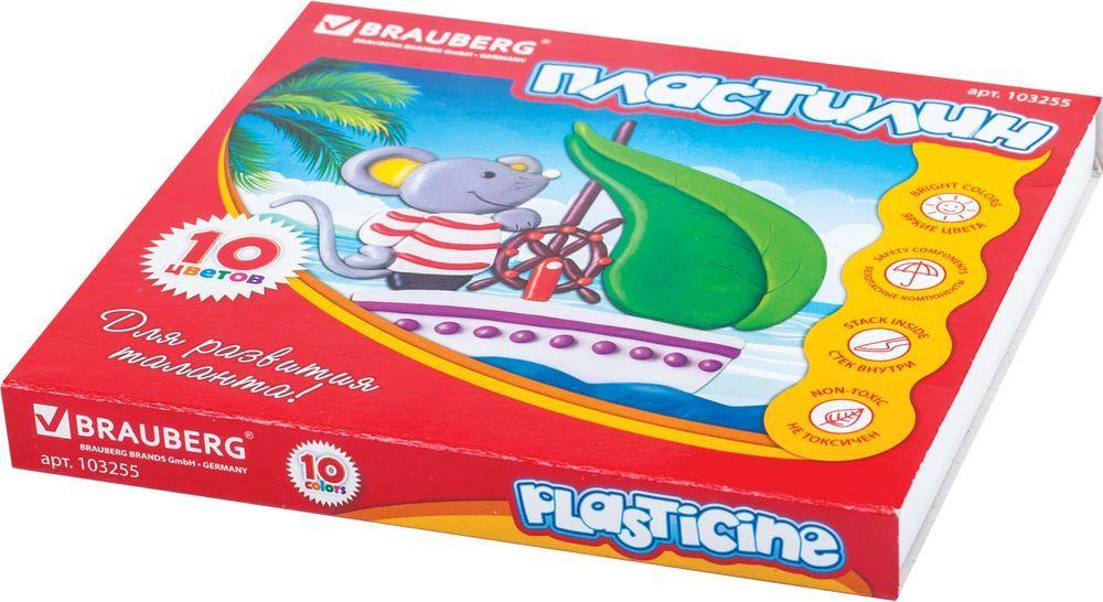 Brauberg Пластилин 10 цветов 200 г103255Пластилин Brauberg предназначен для лепки и моделирования. Помогает развивать творческие способности и мелкую моторику. Обладает прекрасными пластичными свойствами, легко размягчается в руках и принимает нужную форму. Не токсичен, имеет яркие и сочные цвета.