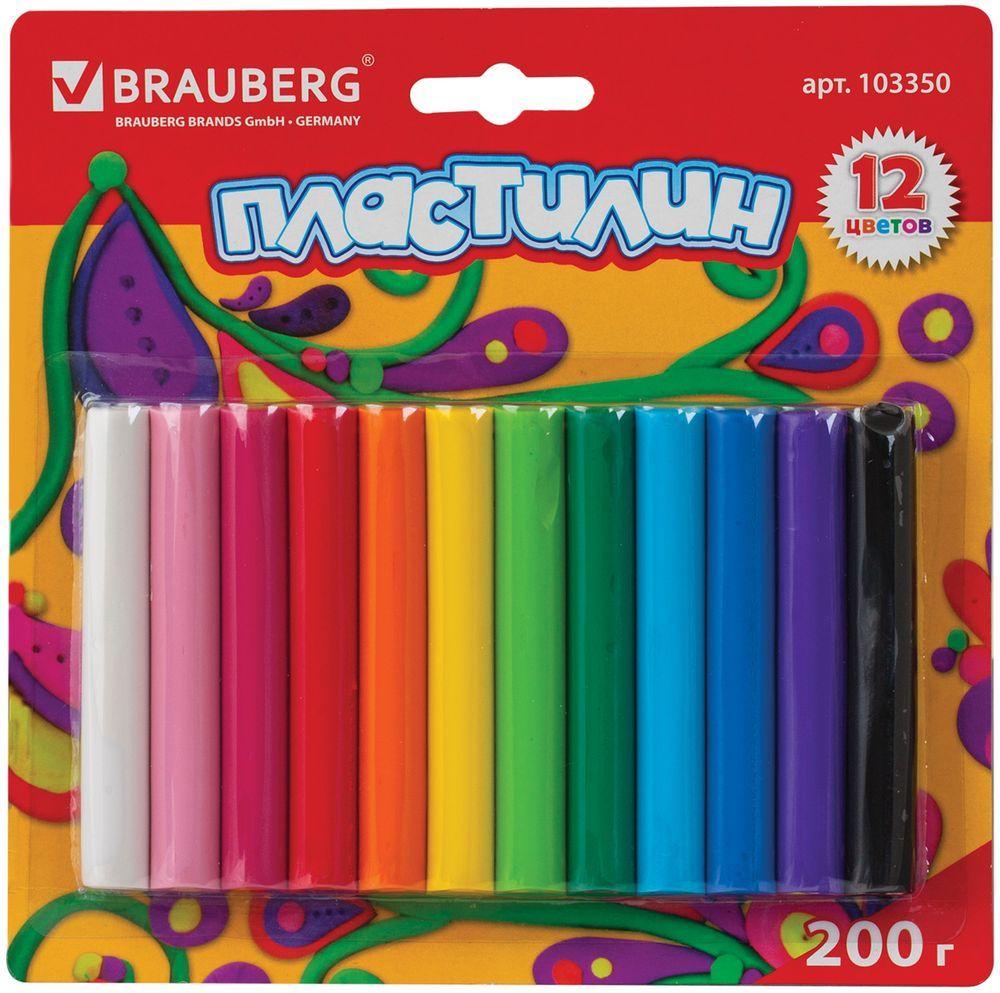 Brauberg Пластилин 12 цветов 200 г103350Пластилин Brauberg способствует развитию мелкой моторики у ребенка, творческих способностей, получению положительных эмоций. Обладает высоким качеством, прекрасными пластичными свойствами и мягкостью. Легко принимает нужную форму, имеет яркие, насыщенные цвета.