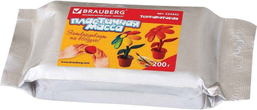 Brauberg Пластилин для моделирования цвет терракотовый 200 г224442Масса для моделирования и лепки Brauberg схожа по своим качествам с глиной. Отличается легкостью в работе, очень мягкая и пластичная, имеет приятный запах, не липнет к рукам, не требует тепловой обработки, затвердевает на воздухе в течение 12 часов.