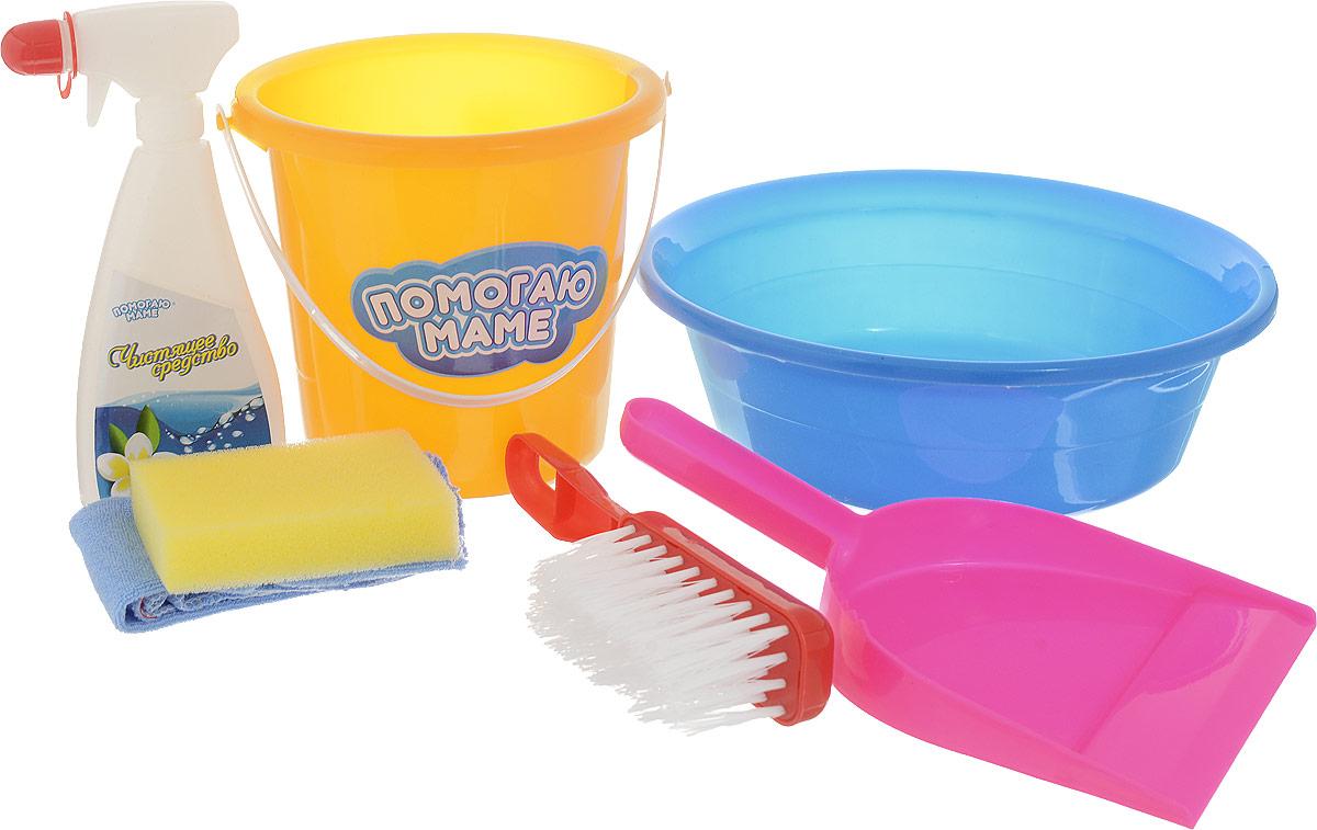 ABtoys Игровой набор для уборки 7 предметов средства для уборки glorix чистящее средство для пола свежесть атлантики 1л