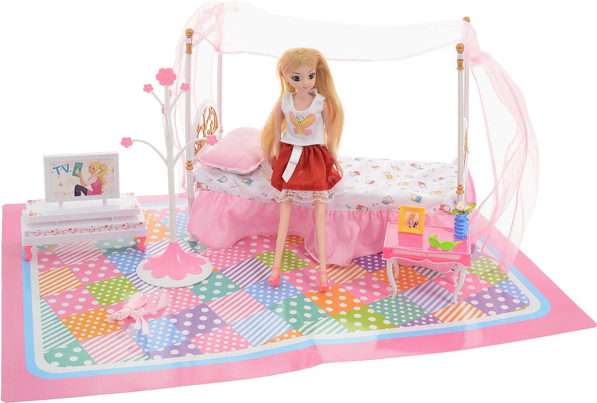 Junfa Toys Игровой набор с куклой Спальня игрушки для ванны tolo toys набор ведерок квадратные