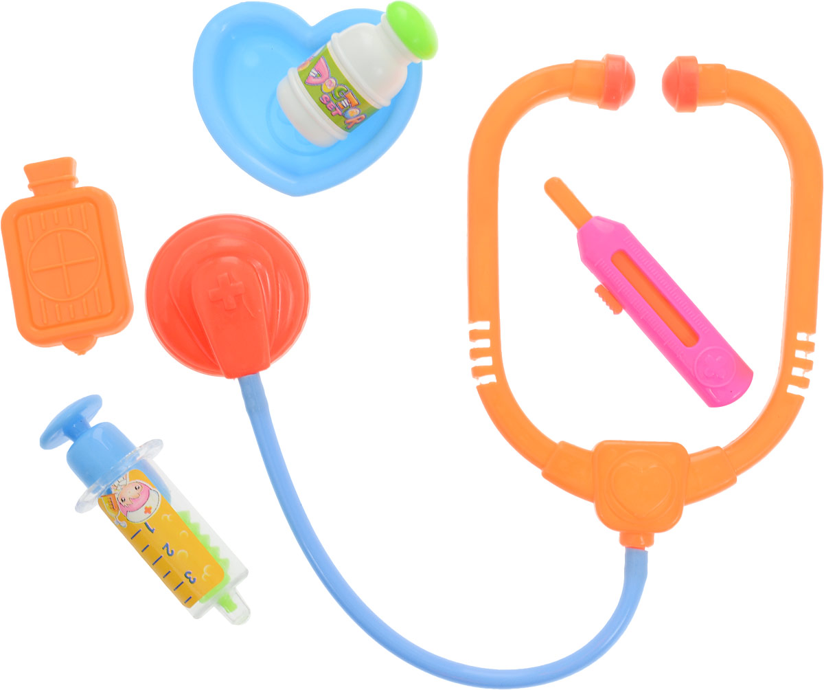 ABtoys Игровой набор Доктор 6 предметов abtoys со стрелами на присосках