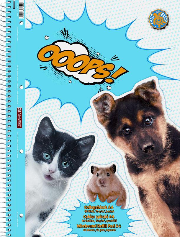 Stewo Тетрадь OOOPS 80 листов в клетку oxford тетрадь international easybook 80 листов в клетку формат а4