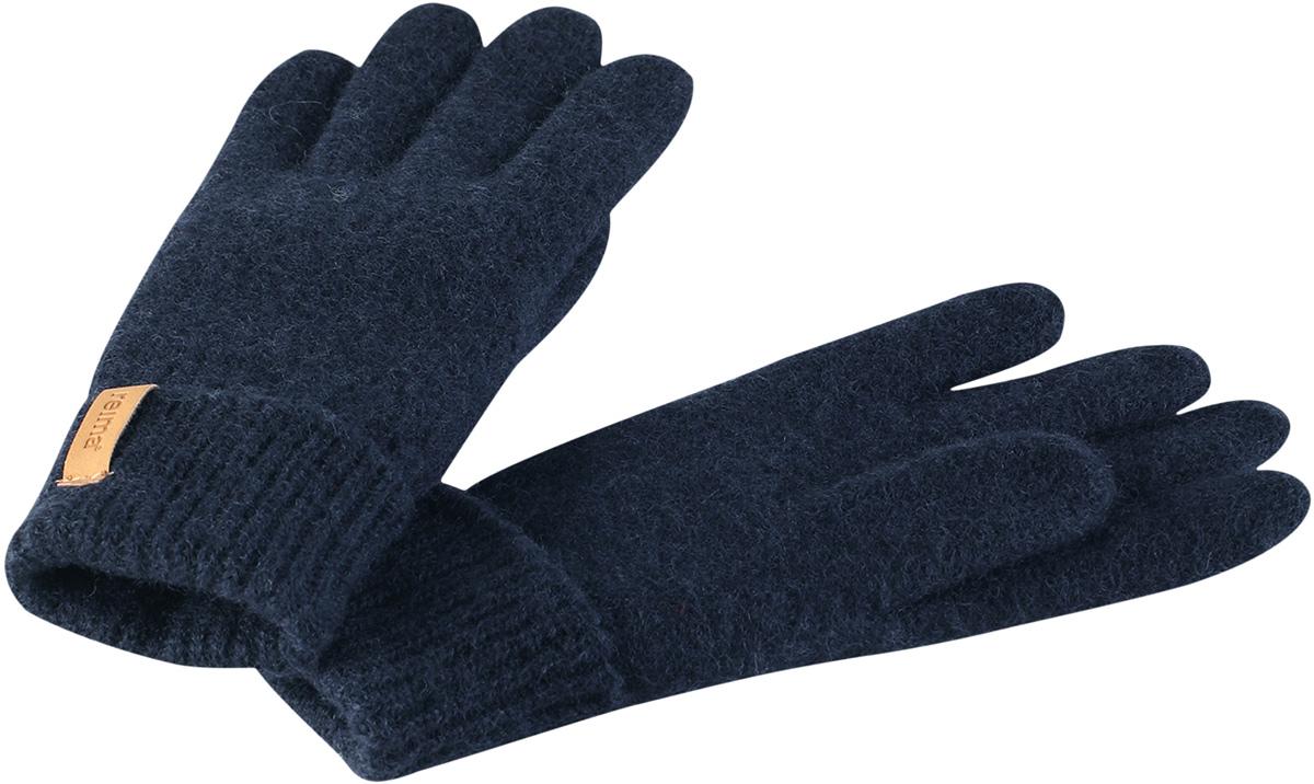 Перчатки детские Reima Supi, цвет: синий. 5272916980. Размер 55272916980Детские перчатки от Reima связаны из теплой шерстяной пряжи. Дышащая шерсть - превосходный терморегулятор. Эта облегченная модель без подкладки отлично подойдет в межсезонье, также может использоваться для поддевания под верхние перчатки зимой.