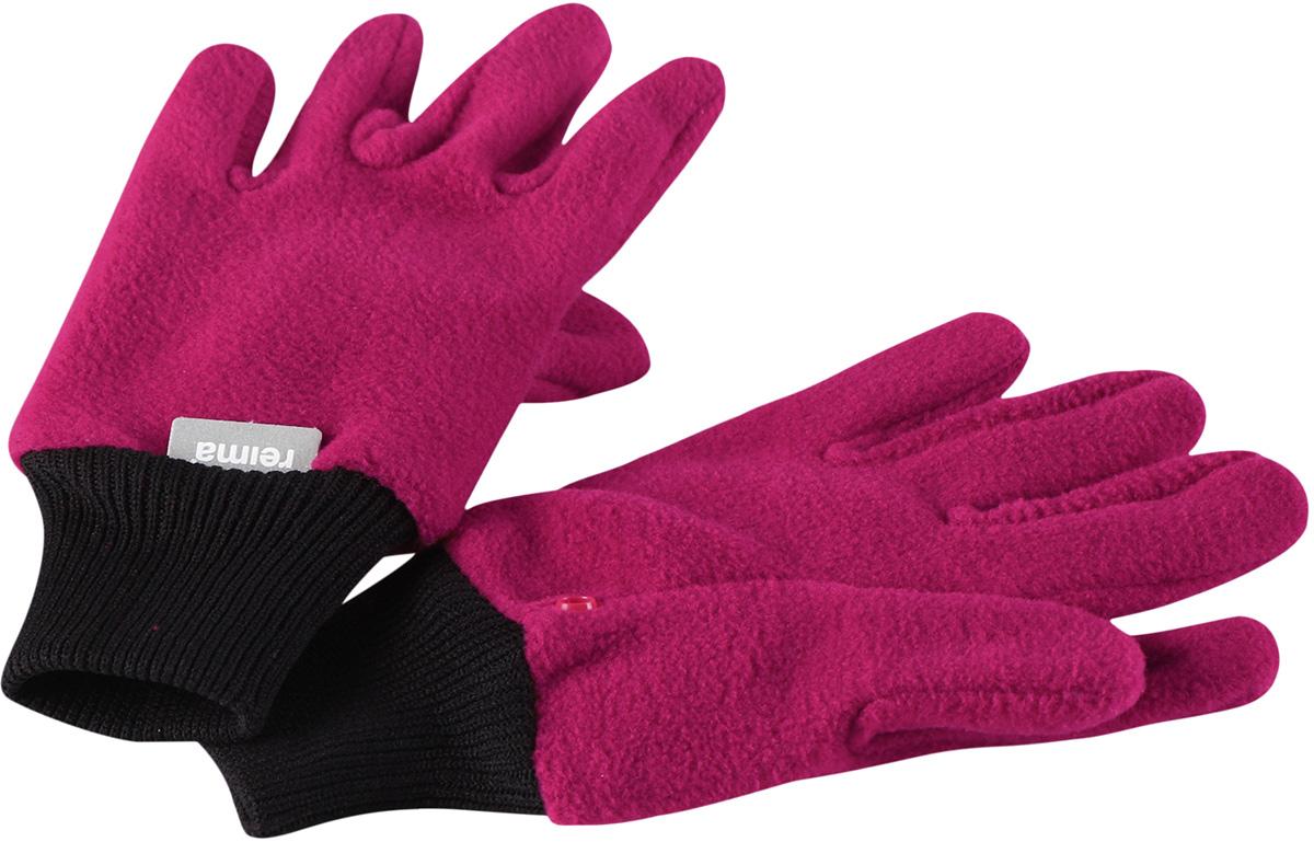 Перчатки для девочки Reima Osk, цвет: розовый. 5272793920. Размер 75272793920Мягкие и удобные детские перчатки от Reima выполнены из флиса (100% полиэстер). Теплый, дышащий и быстросохнущий флисовый материал отводит влагу в верхние слои. Облегченная модель без подкладки превосходно подойдет для поддевания под непромокаемые варежки в морозную погоду. Удобная резинка. Снабжены кнопкой и пристегиваются друг к другу для хранения.