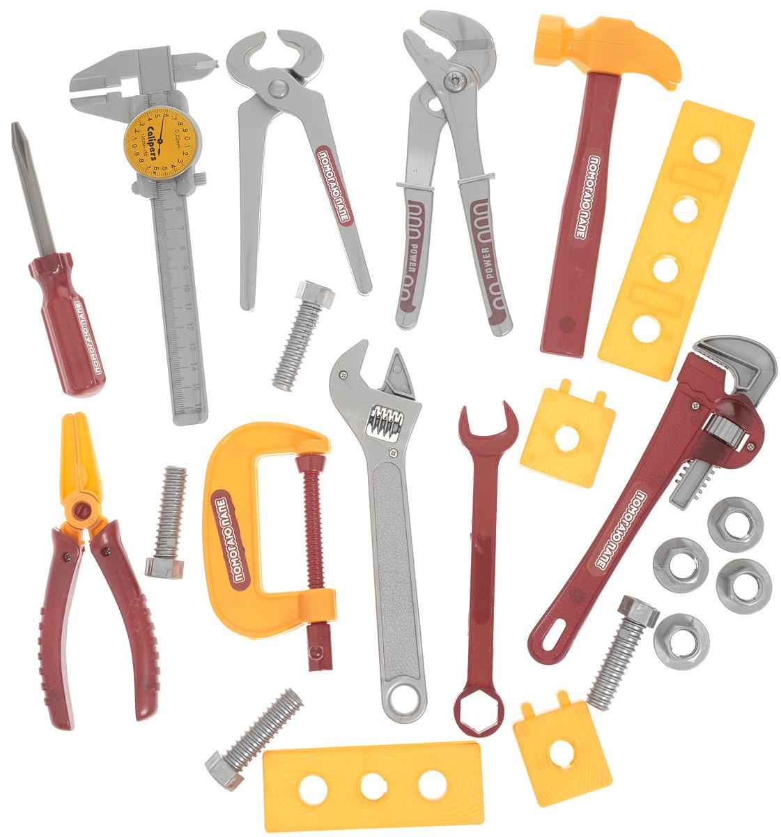 ABtoys Набор игрушечных инструментов 22 предмета ролевые игры спектр игра набор инструментов