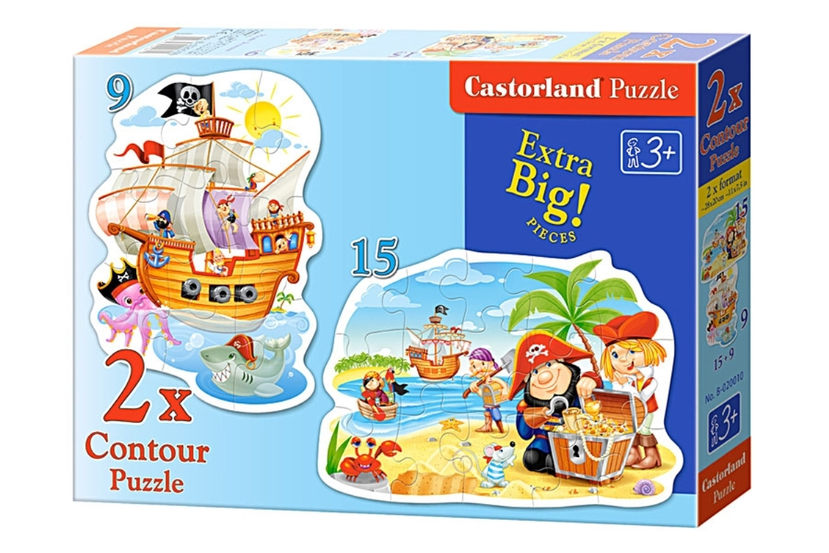 Castorland Пазл для малышей Пиратские сокровища 2 в 1 castorland пазл дюймовочка 4 в 1