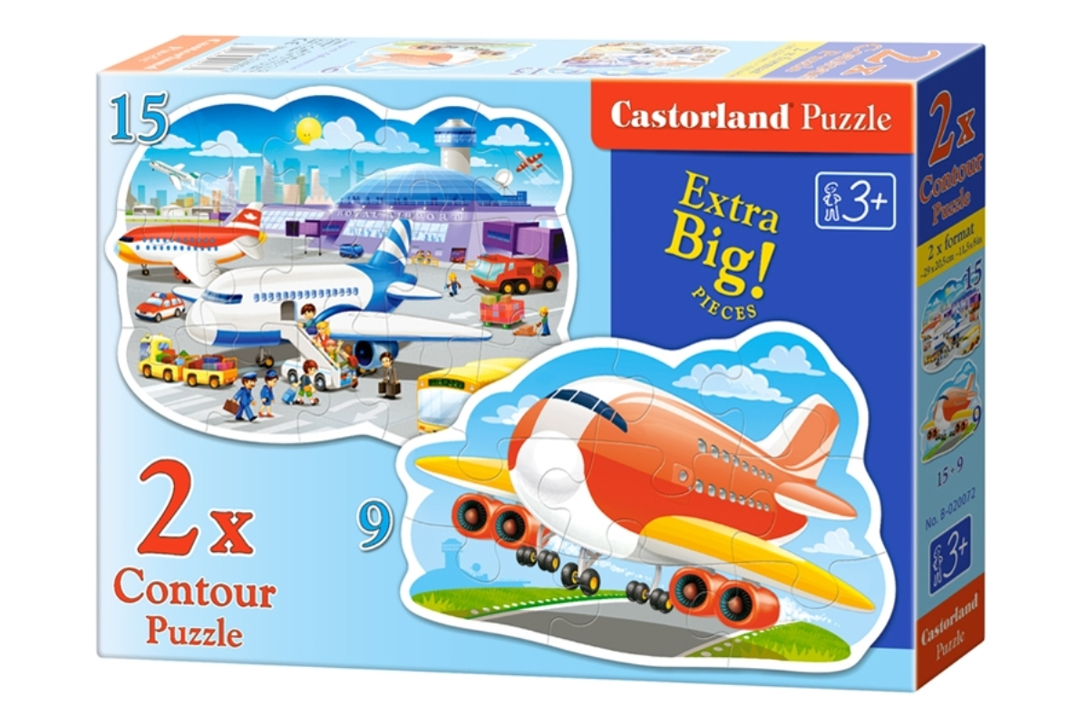 Castorland Пазл для малышей Аэропорт 2 в 1 castorland пазл для малышей в аэропорту