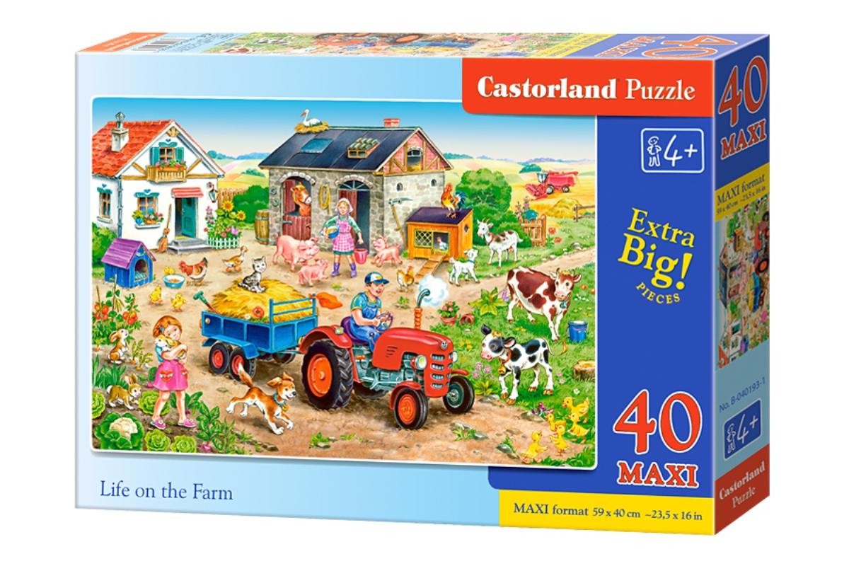 Castorland Пазл для малышей Жизнь на ферме castorland пазл для малышей бетономешалка