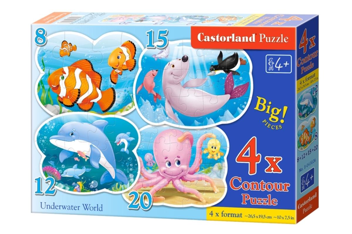Castorland Пазл для малышей Подводный мир 4 в 1
