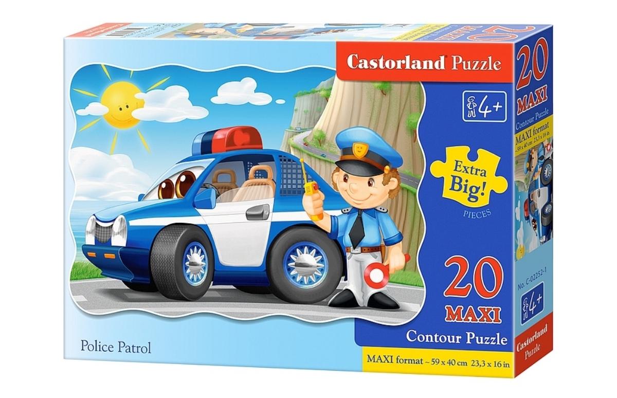 Castorland Пазл для малышей Полицейский патруль castorland пазл для малышей в аэропорту