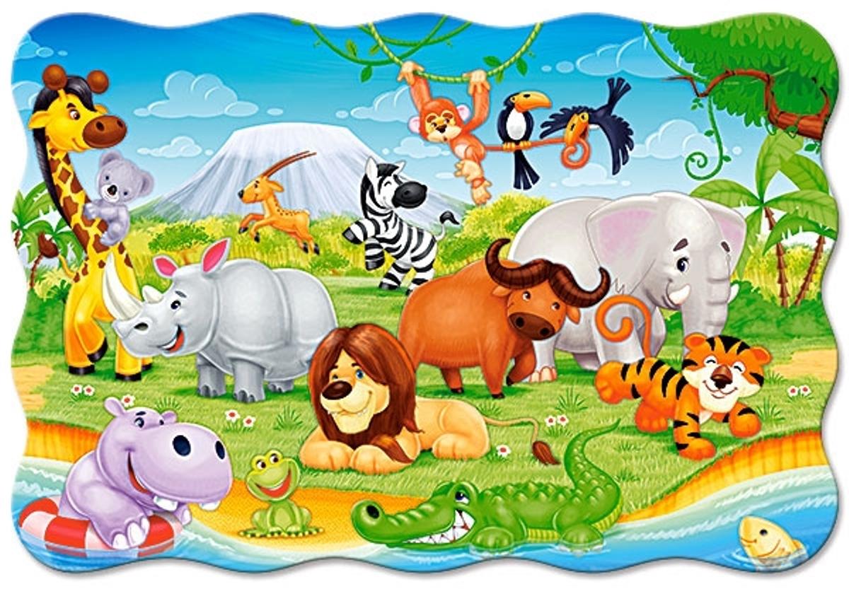 CastorlandПазл для малышей Животные Африки Castor