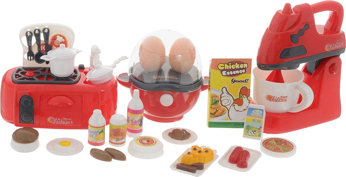 Junfa Toys Игровой набор Набор детской посуды и продуктов 979-27 игровой набор playmates toys патрульные багги леонардо и донателло