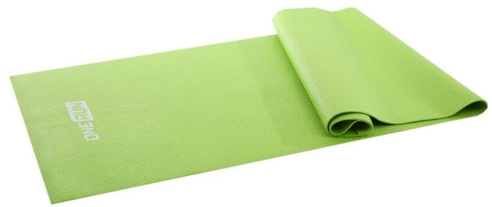 Коврик для йоги OneRun, цвет: зеленый, 173 х 61 см коврик гимнастический kettler цвет голубой 173 х 61 см