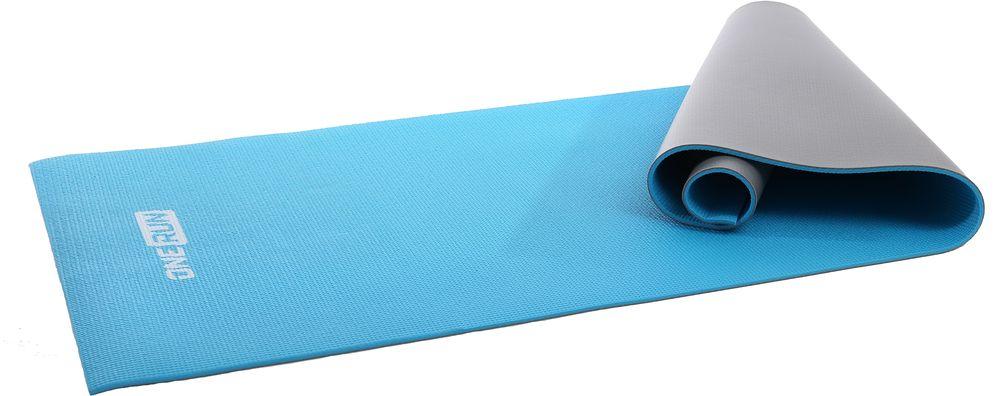 Коврик для йоги OneRun, двойной, цвет: голубой, 181 х 61 см495-4808Коврик OneRun имеет увеличенную длину и толщину что делает занятия на нем более комфортными. Отлично подходит для занятий йогой, пилатесом или других физических упражнений на полу. Коврик имеет прочную нескользящую поверхность, легко моется и быстро сохнет. Отличный подарок для любителей йоги.Размер: 181 х 61 см. Толщина: 6 мм.