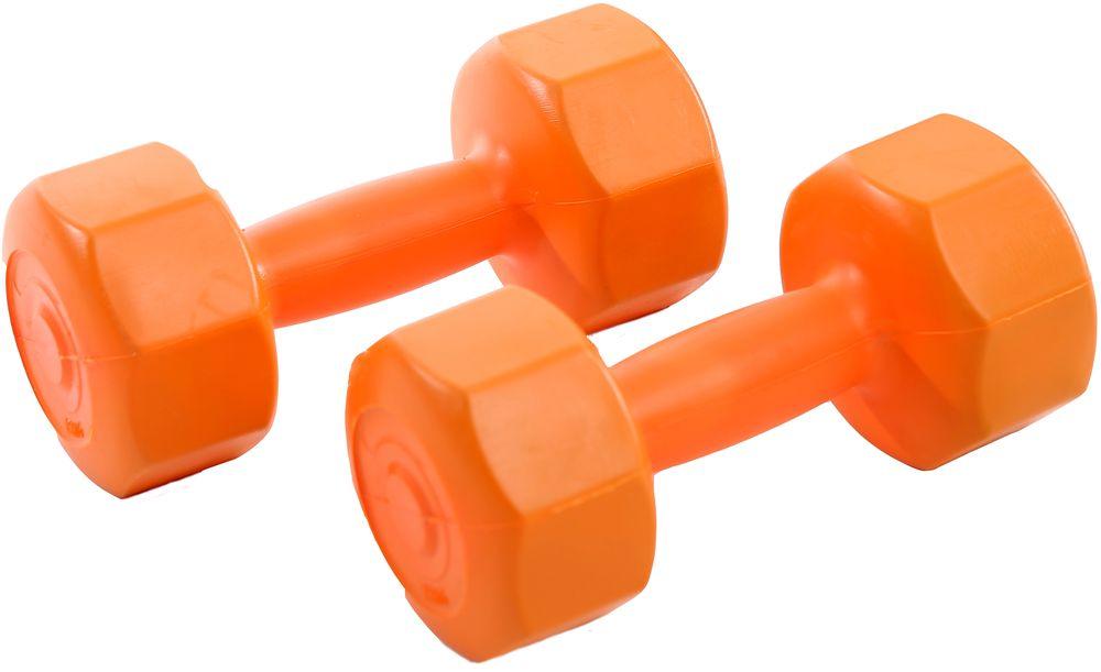 Гантели виниловые OneRun, цвет: оранжевый, 1,5 кг, 2 шт495-4810Гантели OneRun идеально подходят домашних тренировок и служат для укрепления мышцы рук, груди и плеч. Внешняя оболочка привлекательной расцветки сделана из прочного ПВХ, наполнитель - композитная смесь цемента и песка. Гантели имеют специальную форму, которая предотвращает качение.Комплектация: 2 гантели по 1,5 кг.