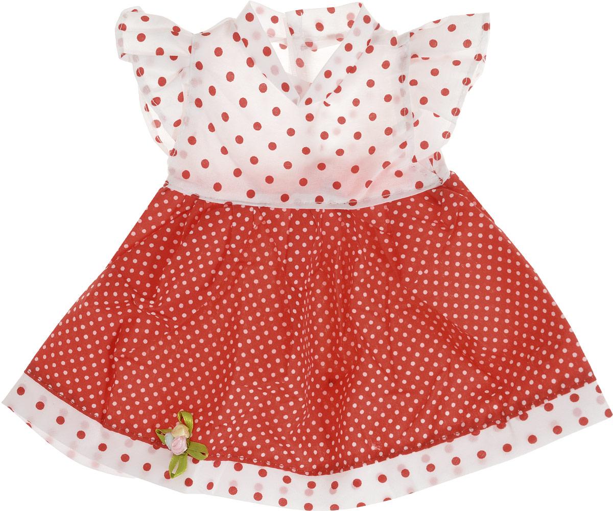 Junfa Toys Одежда для кукол Платье цвет платья красный белый