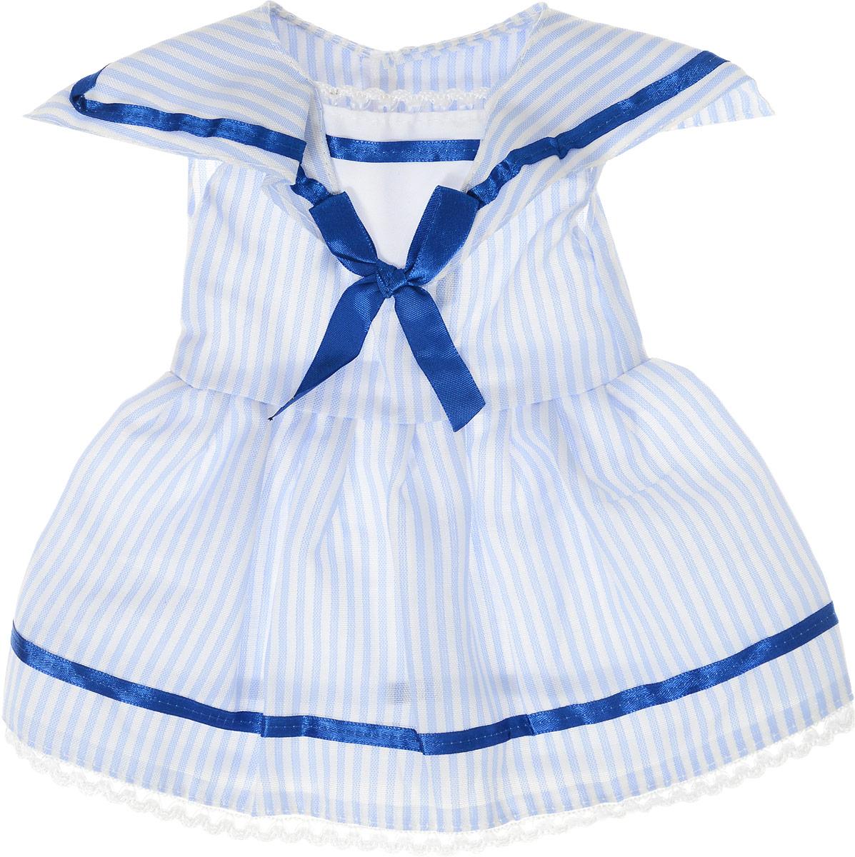 Junfa Toys Одежда для кукол Платье цвет платья белый синий