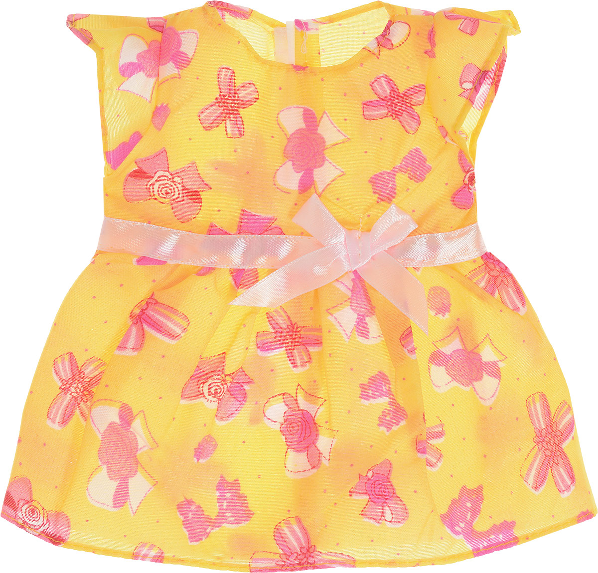 Junfa Toys Одежда для кукол Платье цвет желтый куклы и одежда для кукол bayer малышка первый поцелуй 42 см