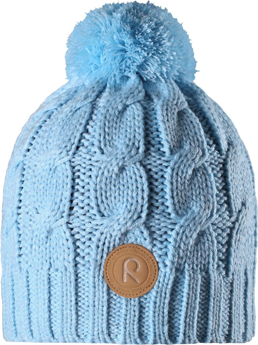Шапка-бини детская Reima Laavu, цвет: синий. 5380256130. Размер 565380256130