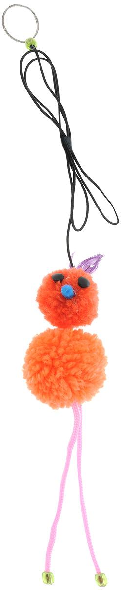 Игрушка-дразнилка для кошек GLG Страус на резинке, цвет: оранжевый, длина 95 смGLG043_мультиколорИгрушка-дразнилка для кошек GLG Страус на резинке, выполненная из текстиля, не позволит заскучать вашему пушистому питомцу. Изделие оснащено бубенчиками. Играя с этой забавной игрушкой, маленькие котята развиваются физически, а взрослые кошки и коты поддерживают свой мышечный тонус. Игрушка выполнена в виде страуса на резинке.Такая игрушка порадует вашего любимца, а вам доставит массу приятных эмоций, ведь наблюдать за игрой всегда интересно и приятно. Общая длина игрушки (с учетом резинки): 95 см.Размер игрушки (без учета резинки): 5 х 5 х 23 см.