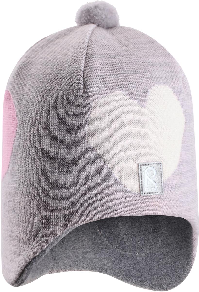 Шапка-бини детская Reima Vadelma, цвет: серый. 5285479130. Размер 525285479130