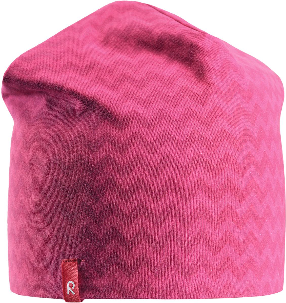 Шапка-бини для девочки Reima Hirvi, цвет: розовый. 5285393565. Размер 54 шапка женская r mountain цвет бежевый розовый ice 8521 размер 54 61