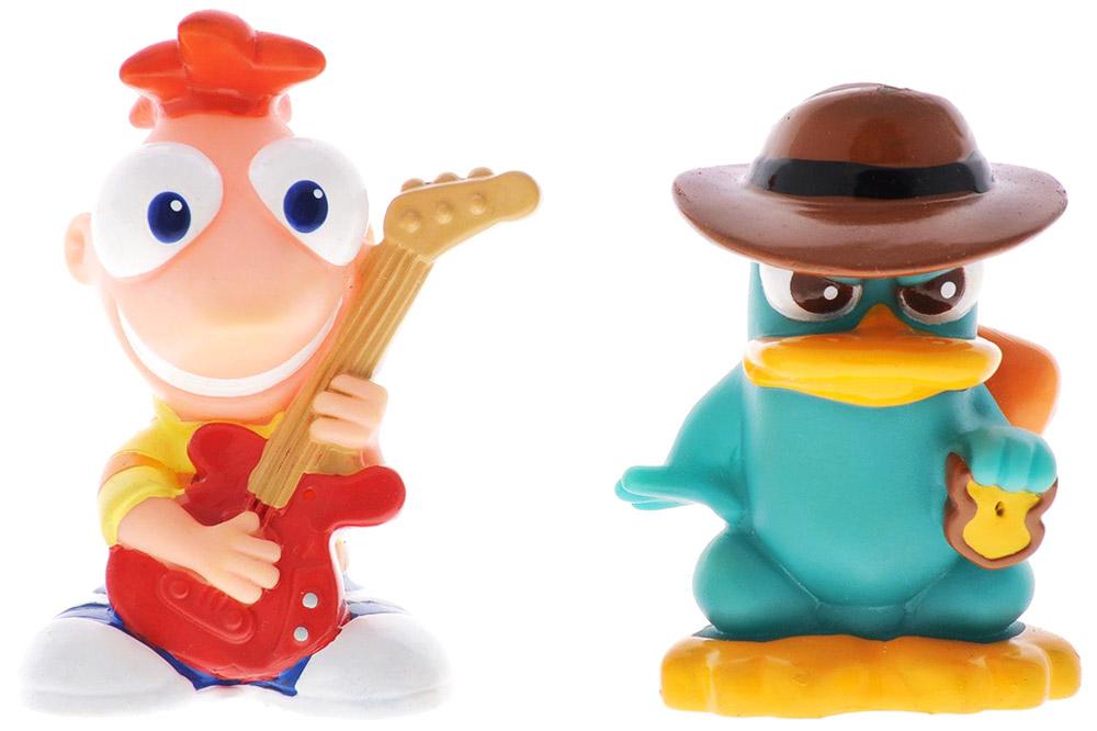 Набор игрушек для ванной Phineas & Ferb, 2 шт игрушки для ванной simba книжечка для купания