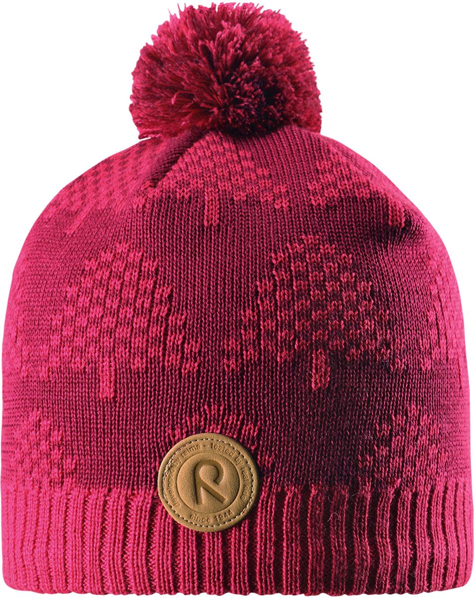Шапка-бини детская Reima Kajaani, цвет: розовый. 5285633560. Размер 545285633560Детская шапка из теплого шерстяного трикотажа. Материал превосходно регулирует температуру и хорошо согревает голову. Ветронепроницаемые вставки и подкладка из мягкого флиса. Декоративная структурная вязка.